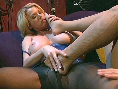 Blonde Lesbian Feet Loving